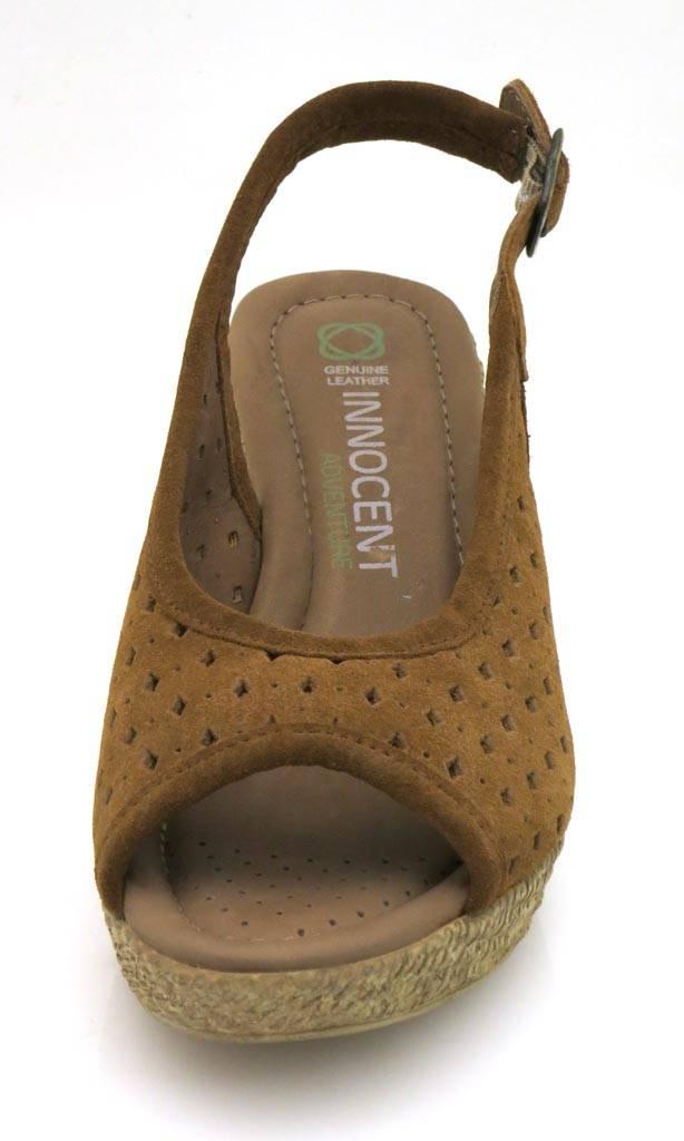 Innocent-mantequilla-suave-Sandalias-De-Punta-Abierta-Zapatos-piel-Tacon-Alto