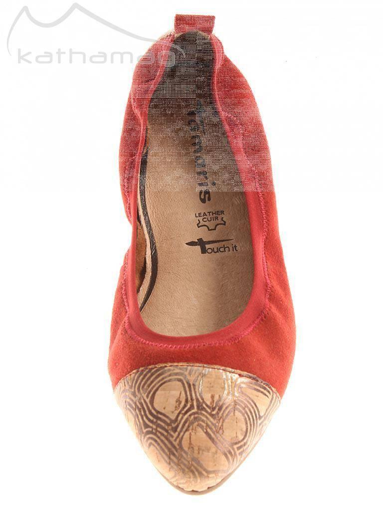 Tamaris Ballerinas Lederschuhe 122134 geschlossen Leder