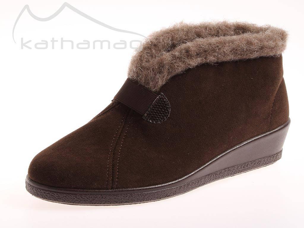 Rohde Hausschuhe Salo Modell 2542-72 Filz Wolle warm Damenschuhe