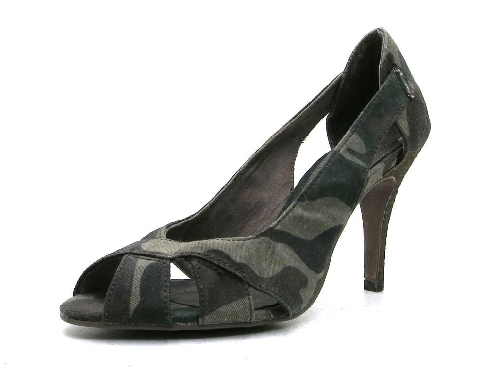tamaris pumps peep toe military camouflage high heels. Black Bedroom Furniture Sets. Home Design Ideas