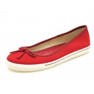 Via Uno Canvas Ballerinas rot
