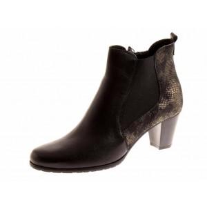 RelaxShoe Lederstiefelette in schwarz