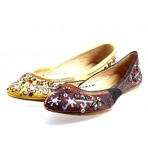 Buffalo Ballerinas Satin/Leder
