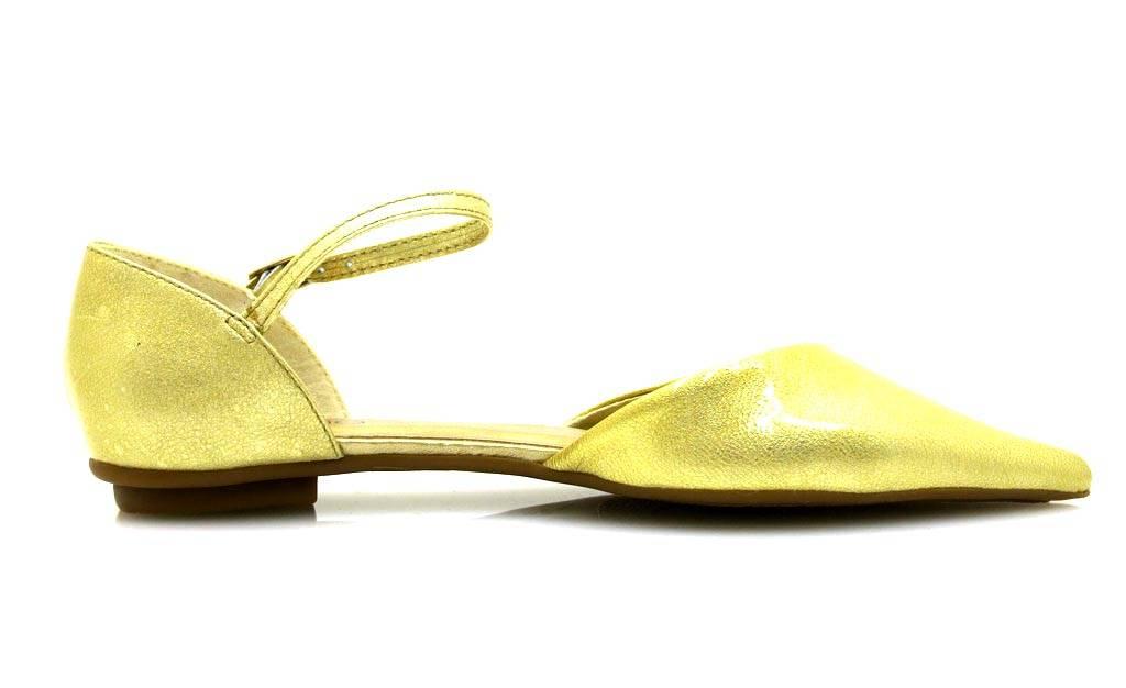 molti alla moda design professionale cerca l'autorizzazione Dettagli su Via uno Elegante Scarpe Ballerine Estive Donna Cuoio Verniciato  10733201