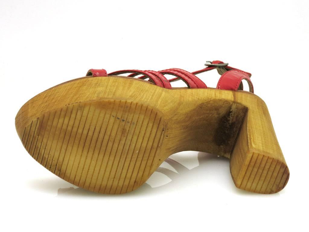 Innocent High-Heel-Sandalette LederSandaleette LederSandaleette High-Heel-Sandalette Lederschuhe Lackleder 124-SS06 542335