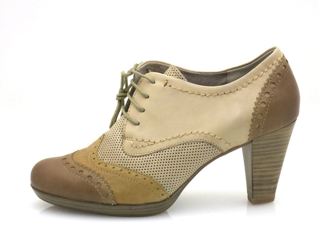 Details about Marco TOZZI Lace Up Shoes High Front Pumps Leather Shoes Ladies Shoes 2 23304 show original title