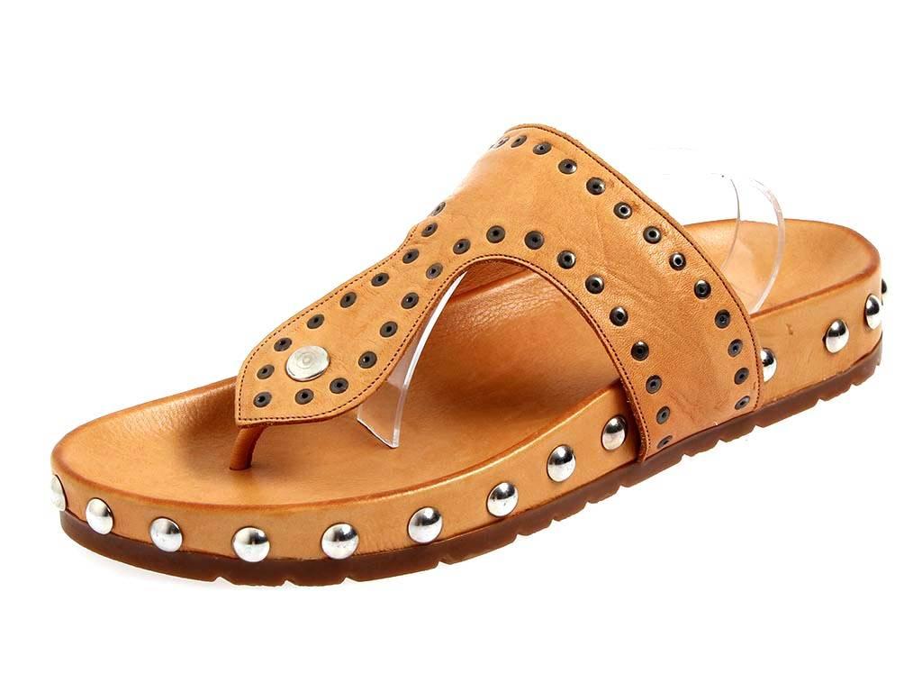 KimKay Lederpantolette mit Zehensteg Zehentrenner Leder Schuhe 4562 LYNInR