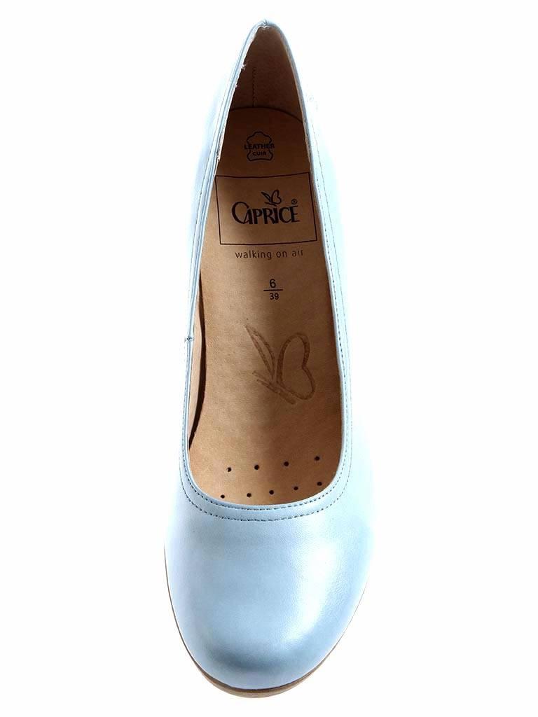 54c47aef496be Details zu Caprice Pumps Damenschuhe High Heels Lederschuhe Schuhe 9-22406  Sky Blue