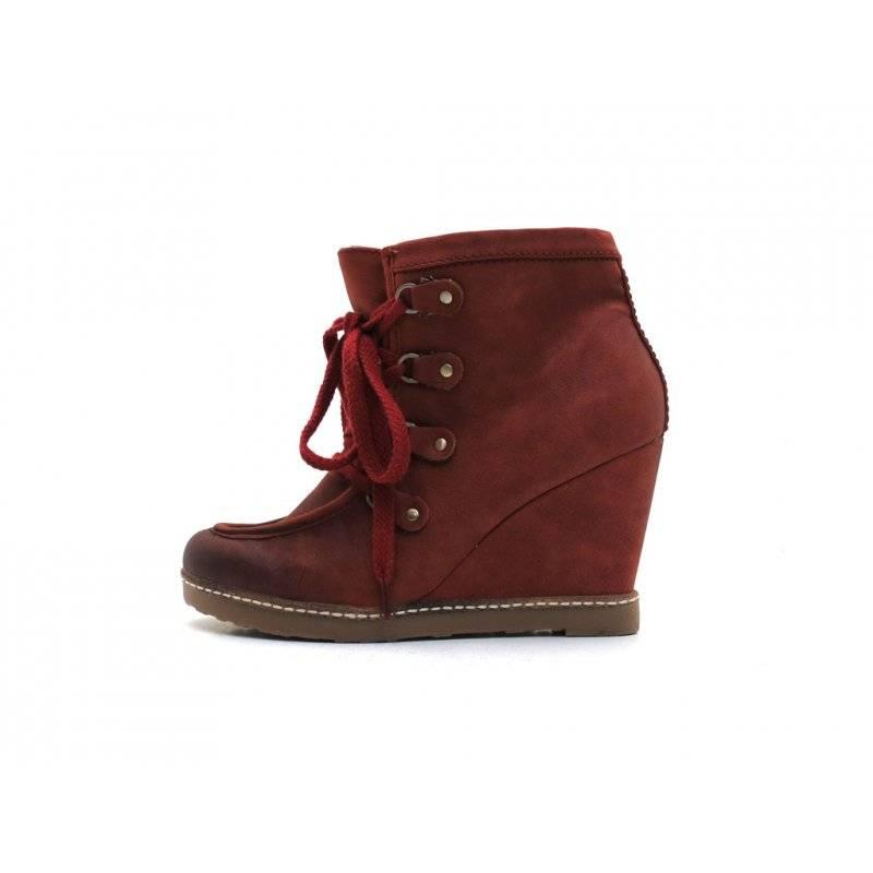 Depeche Keilstiefelette Stiefeletten Damenschuhe Schuhe Wedge 6028 Kupfer